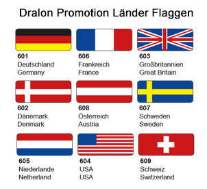 Dralon Promotion Länder Flaggen