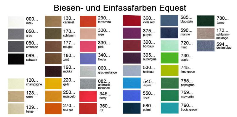 Einfassfarben und Biesen Equest Abschwitzdecken - Design Your Own
