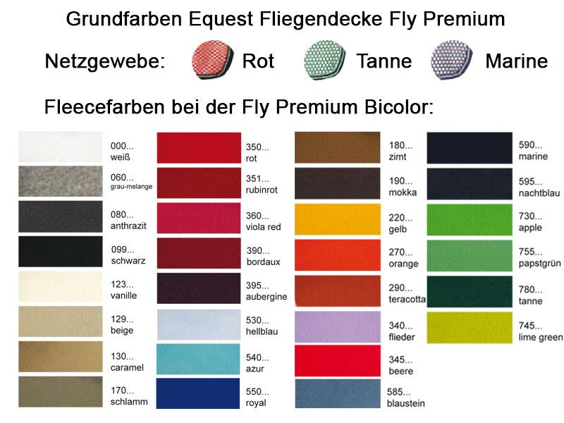 Grundfarben Equest Abschwitzdecken - Design Your Own