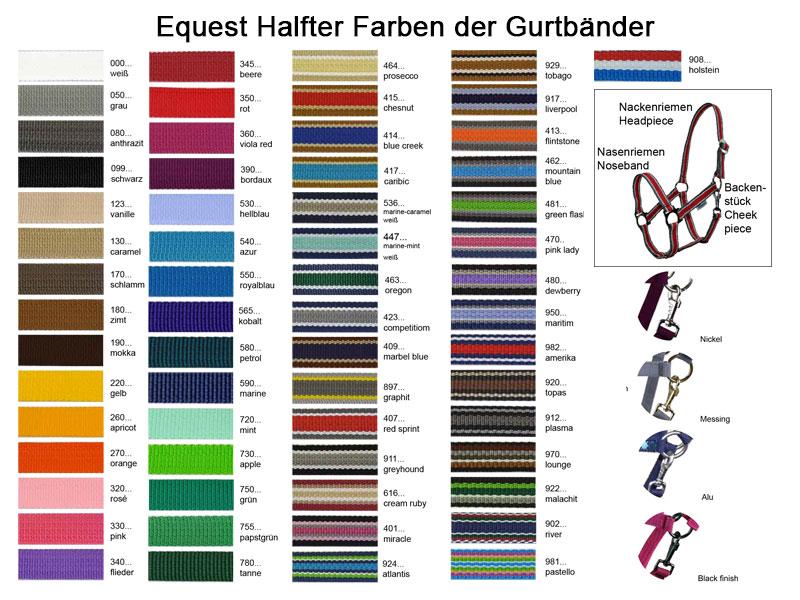 Grundfarben Equest Halfter