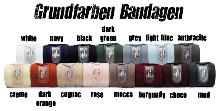 Grundfarben Eskadron Bandagen - Turnierkollektion