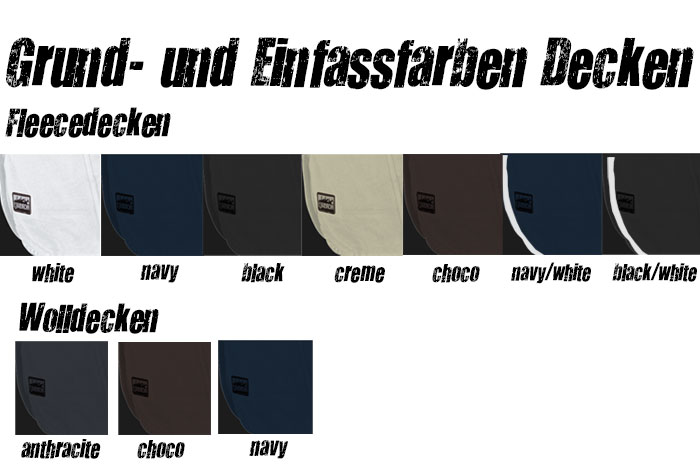 Grundfarben Eskadron Abschwitzdecken - Turnierkollektion