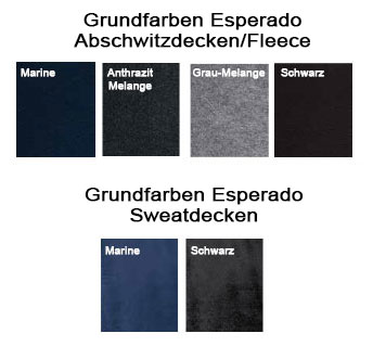 Grundfarben Esperado Abschwitzdecken - Create Your Own Collection