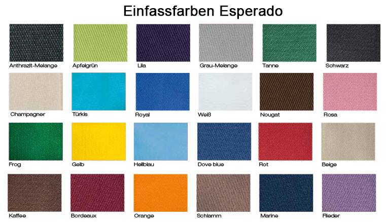 Einfassfarben Esperado Schabracken - Create Your Own Collection