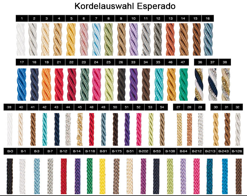 Kordelauswahl Esperado Schabracken - Create Your Own Collection