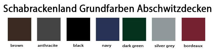 Schabrackenland Abschwitzdecken Grundfarbe