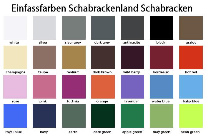 Schabrackenland Einfassfarben